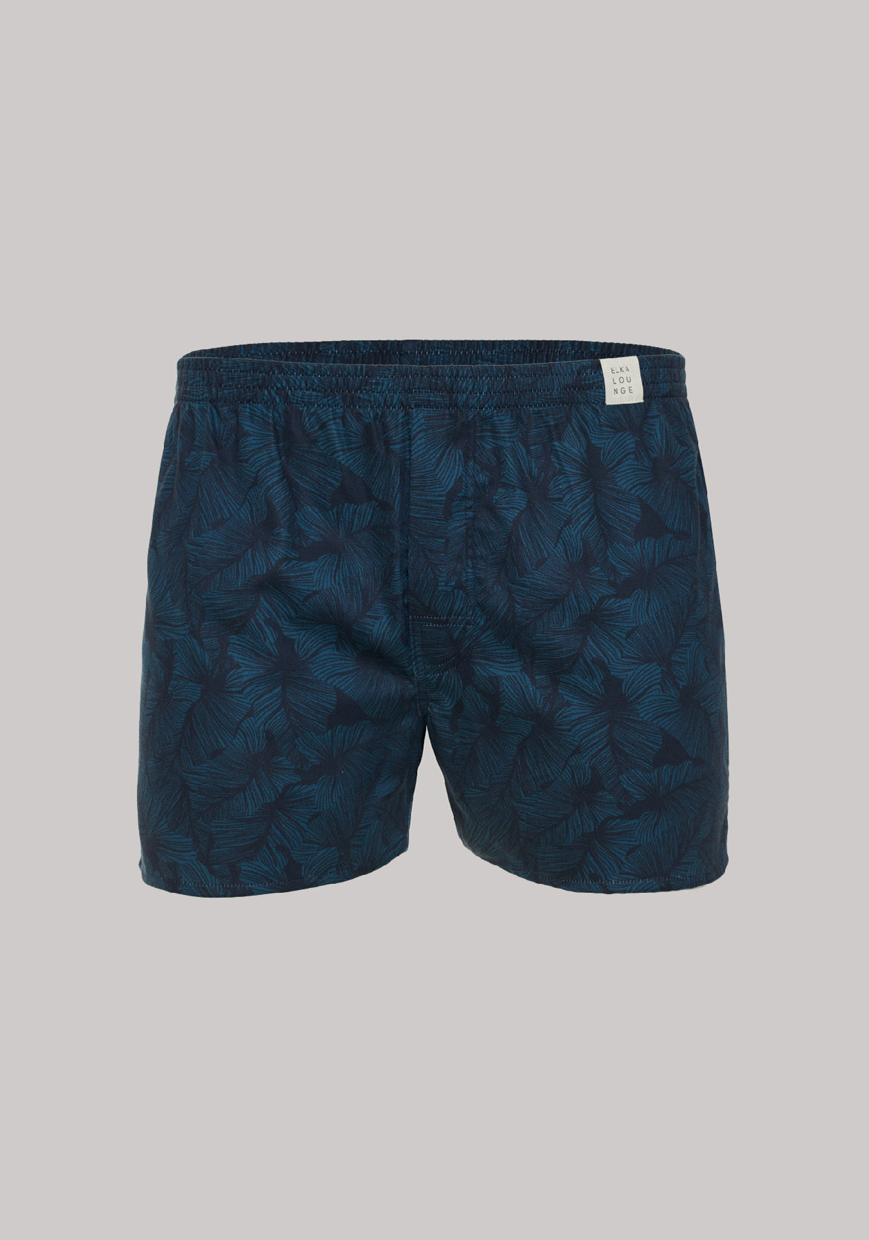 Men boxershorts Blue leaves