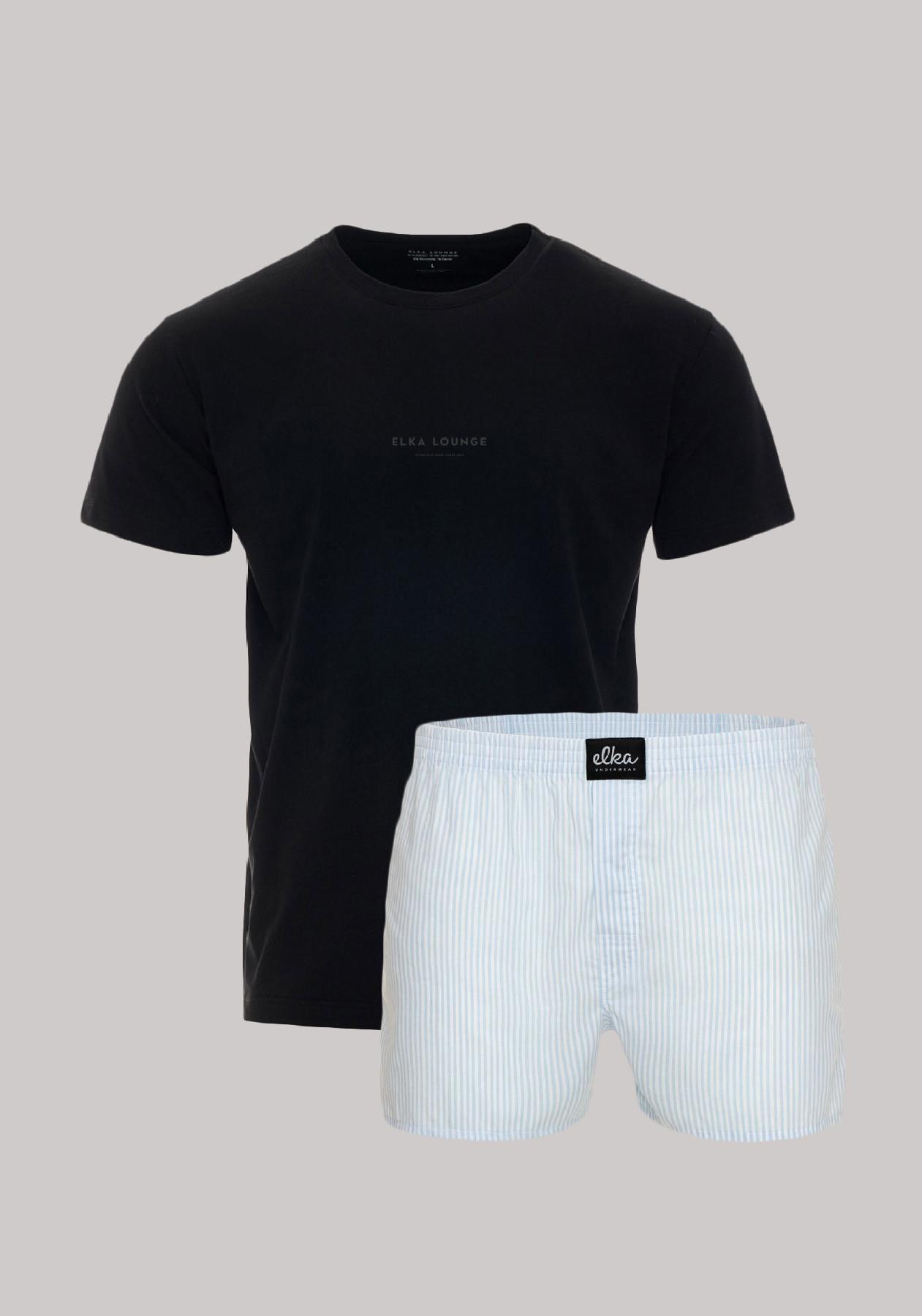 Black-blue Lounge logowear